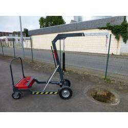 Potence mobile sur roues