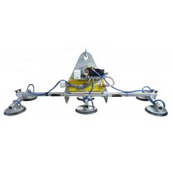 <p>Capacité 1000 Kg /</p> <p>Manipulateur à ventouses spécialement conçu pour la manutention de tôle 1000*2000 mm, 1500*3000 mm et 2000*4000 mm</p> <p>Alimentation pneumatique (Modèle F6 A ) ou électrique (Modèle F6 EB)</p>