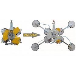 Palonnier à ventouses autonome pour vitrage VB4+4 - 400 à 800 Kg