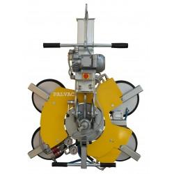 <p>Capacité 400 Kg / 4 ventouses Ø 300 mm / Alimentation pneumatique (air comprimé) ou électrique (380V tri ou 220 V Mono)</p>