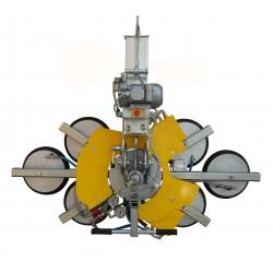 <p>Capacité 600 Kg / 6 ventouses Ø 300 mm / Alimentation électrique (380V tri ou 220 V Mono)</p>