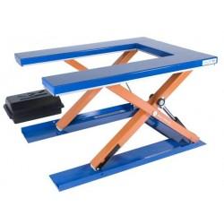 """<p>Capacité de la <a href=""""http://palvac.com/6-table-elevatrice"""">table élévatrice</a>: 1000 Kg<br />/ Plateau de 1450*1085 mm<br />/ Hauteur maxi : 800 mm<br />Moteur de 0.75 Kw</p>"""