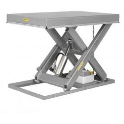 <p>Table élévatrice inox / Capacité 1500 kg / Elevation maxi : 1050 mm / Plateau 1350x800 mm</p>