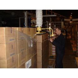 <p>Manutention de plusieurs cartons de façon simultanée pour la paletisation ou la deplaletisation<br />Avec un points standard constaté de maxi 200 Kg</p>