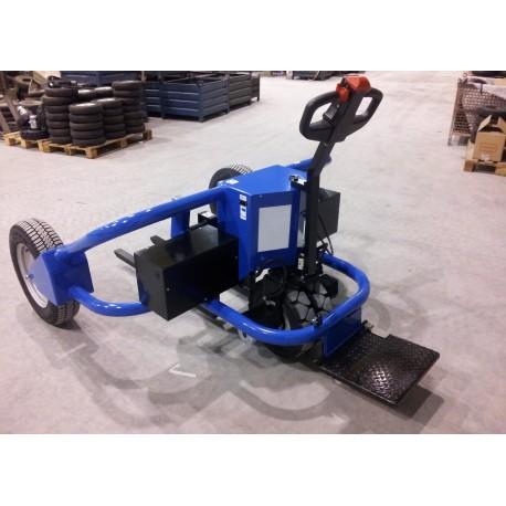 Transpalette tout terrain électrique PH2-2x500W PALVAC avec plateforme