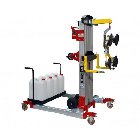 Palonnier à ventouses mobile de vitrage TS 4500 Capacité 280 kg /  Hauteur d'élévation 4590 mm