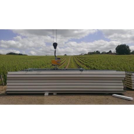 Capacité 250 Kg /Pour la manutention de panneaux sandwich jusqu'à 12 000 mm ou 16 000 mm de long / Double position : Horizontale et verticale /Fabriqués selon la norme EN 13155