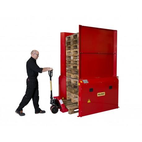 <p>Pour le stockage sécurisé de 15 ou 25 palettes /<br />Empilage et dépilage de palette automatiques /<br />Capacité de 500 ou 800 Kg /<br />Pour palette de 1200*800 ou 1200*1000 mm de 150 mm de haut /<br /><strong>Alimentation en air comprimé et électrique 220 V / Mono</strong><br /><br /></p>