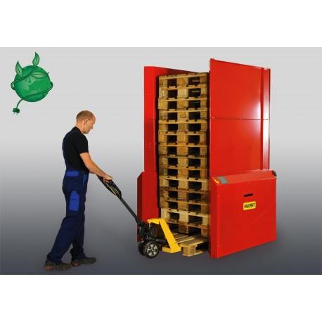 <p><strong>Alimentation seulement en électrique 220 V / Mono</strong><br />Pour le stockage sécurisé de 15 ou 25 palettes /<br />Empilage et dépilage de palette automatiques /<br />Capacité de 500 ou 800 Kg /<br />Pour palette de 1200*800 ou 1200*1000 mm de 150 mm de haut /<br /><br /><br /></p>