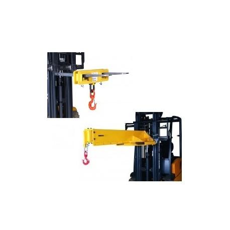 <p>Location de crochet ou potence télescopique pour les fourches de chariot élévateur ou manuscopic pour <strong>suspendre un palonnier à ventouses</strong> et atteindre des partie difficiles d'accès en augmentant le porte à faux.</p>