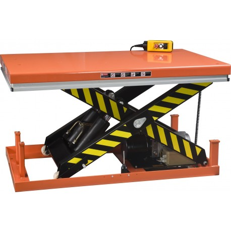 <p>Table de levage fixe / Capacité 2000 Kg / Elévation maxi : 1050 mm / Plateau de 1300*850 mm</p>