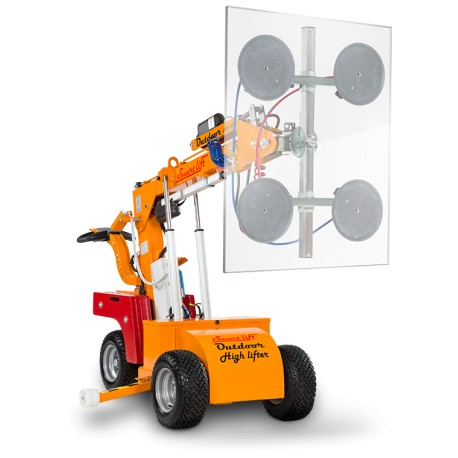 capacité maxi 420 Kg. Elévation maxi 2400 mm à l'axe / Robot de pose pour vitrage /