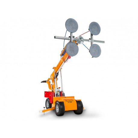 capacité maxi 608 Kg. Elévation maxi 3700 mm / Robot de pose pour vitrage Haute Levée /