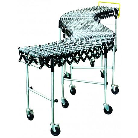 <p>Convoyeur extensible et mobile à galetsacier</p> <p>Ossature acier<br />Son extensibilité lui permet de s'accommoder dedifférentesconfigurations<br />Ce convoyeur offre des solutions contre les troubles musculo squelettiques<br /><br /></p>