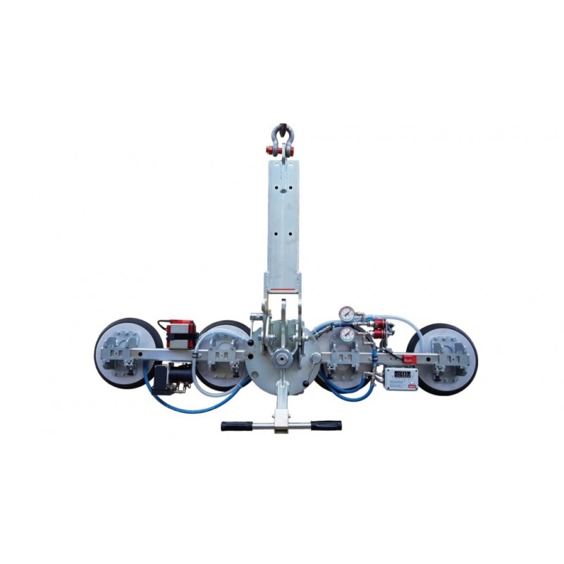 Capacité 400 Kg / 4 ventouses en ligne Ø 310 mm / Conçu pour la manutention de vitrage sur chantier / Conforme EN 13155