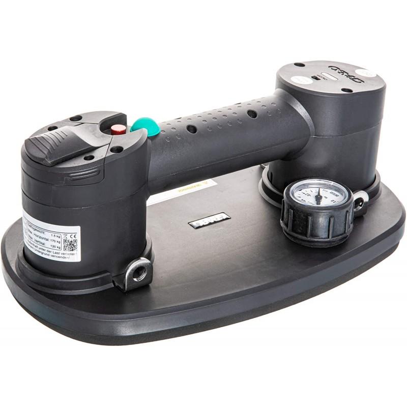 Ventouse autonome à batterie Cette ventouse à main permet la manutention de matériaux, pièces ou objets se façon sécurisée et rapide. Capacité max 170 kg (selon matériau)
