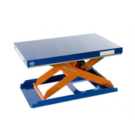 <p>Capacité : 500 Kg / Plateau de 900*600 mm / Hauteur maxi : 710 mm / Moteur de 0.75 Kw/Haute qualité de fabrication Européenne.</p>