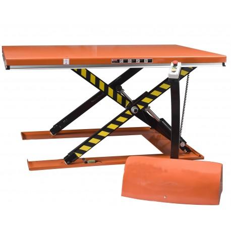 """<p><a href=""""https://palvac.com/6-table-elevatrice"""">Table élévatrice électrique</a><strong> extra plate</strong> de capacité : 1000 Kg / Plateau de 1450*1140 mm / Hauteur maxi : 860 mm / Moteur de 1.1 Kw</p>"""