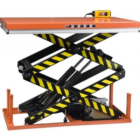 <p>Table élévatrice fixe / Capacité 1000 Kg / Elévation maxi : 1780 mm / Plateau de 820*1300 mm</p>