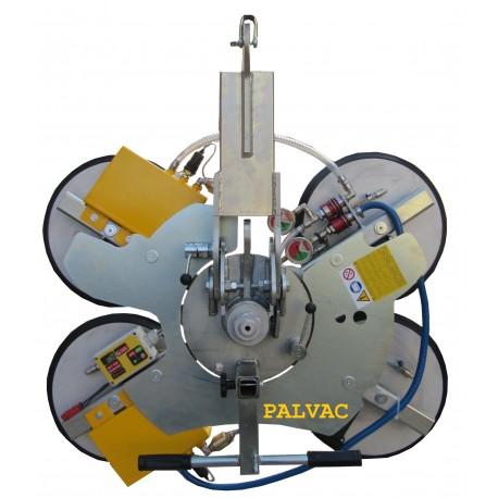 Capacité 600 Kg / 4 ventouses Ø 390 mm / Conçu pour la manutention de vitrage sur chantier / Conforme EN 13155