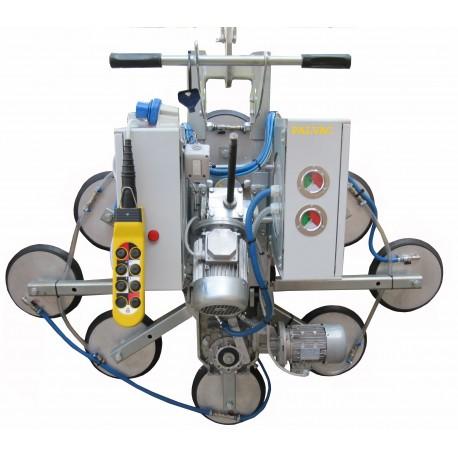 <p>Capacité 800 Kg / 8 ventouses Ø 300 mm / Conçu pour la manutention de vitrage sur chantier / Conforme EN 13155</p>
