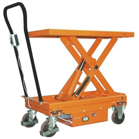 """<p>Capacité : 500 Kg<br />/ Plateau de 1010*520 mm<br />/ Hauteur maxi d'élévation : 950 mm</p> <p><a class=""""btn btn-default"""" title=""""Commandez ce produit en ligne"""" href=""""https://direct-manutention.com/tables-elevatrices/68-266-table-elevatrice-mobile-a-levee-electrique.html"""" target=""""_blank"""">Commandez ce produit en ligne</a></p> <hr />"""