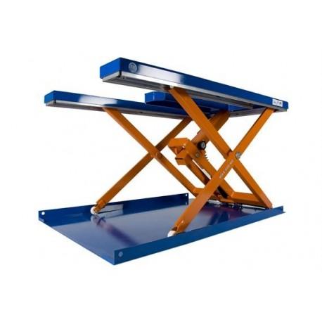 <p>Table élévatrice châssis en E /</p> <p>Capacité 600 Kg /</p> <p><strong>Elévation maxi : 1050 mm</strong></p> <p>Haute qualité de <strong>fabrication</strong> Européenne.</p>