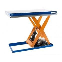 <p><br />Table élévatrice fixe / <br />Capacité 1000 Kg / <br />Elévation maxi : 760 mm</p> <p>Plateau de 900*700 mm<br />Haute qualité de fabrication Européenne.</p>
