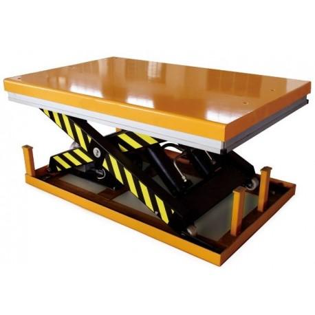 <p>Table élévatrice fixe / Capacité 4000 Kg / Elévation maxi : 1100 mm / Plateau de 1200*1700 mm  </p>