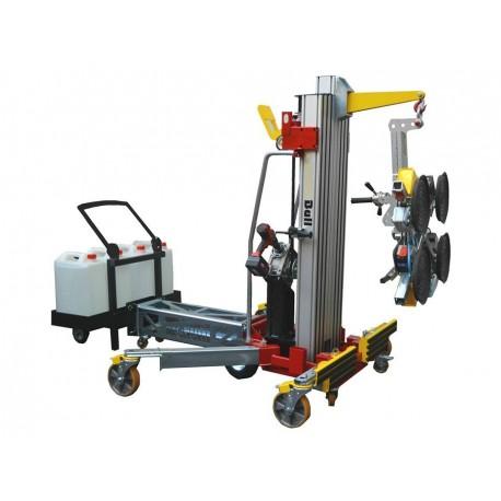 <p>Elévateur de charge jusqu'à 3900 mm, capacité 500 Kg, démontable en 3 éléments. Elévation par visseuse intégrée</p>