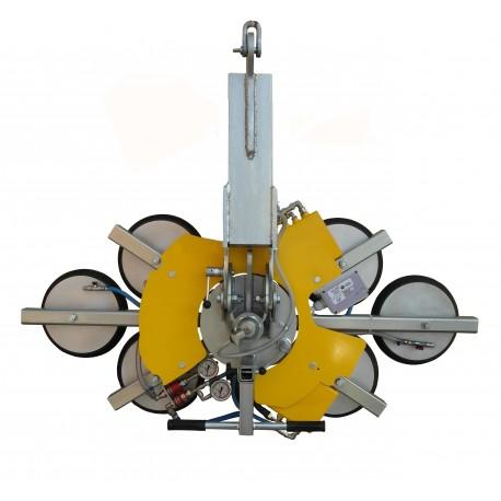 <p>Capacité 900 Kg / 6 ventouses Ø 390 mm / Conçu pour la manutention de vitrage sur chantier / Conforme EN 13155</p>