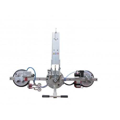Capacité 200 Kg / 2 ventouses réglables Ø 300 mm / Conçu pour la manutention de vitrage sur chantier / Conforme EN 13155