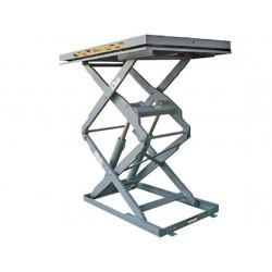 <p>Table élévatrice inox / Capacité 400 kg / Elevation maxi : 1400 mm / Plateau 900x600 mm</p>