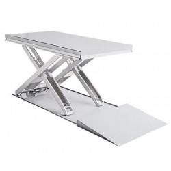 <p>Table élévatrice inox / Capacité 2000 kg / Elevation maxi : 900 mm / Plateau 1500x800 mm</p>