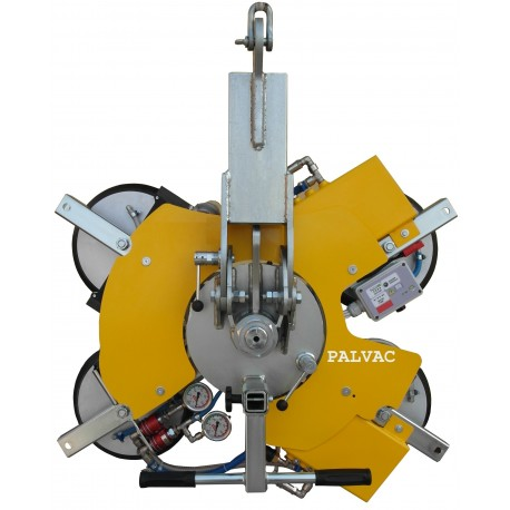 Capacité 400 Kg / 4 ventouses Ø 300 mm / Conçu pour la manutention de vitrage sur chantier / Conforme EN 13155