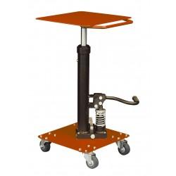 """<p>Capacité : 90kg /</p> <p>Plateau 410*410 mm /</p> <p>Hauteur maxi d'élévation 1170 mm</p> <p><a class=""""btn btn-default"""" title=""""Commandez ce produit en ligne"""" href=""""https://direct-manutention.com/tables-elevatrices/27-152-table-de-mise-a-niveau-hydraulique.html"""" target=""""_blank"""">Commandez ce produit en ligne</a></p> <hr />"""