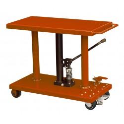 """<p>Capacité : 455kg /</p> <p>Plateau 460*915 mm /</p> <p>Hauteur maxi d'élévation 1220 mm</p> <p><a class=""""btn btn-default"""" title=""""Commandez ce produit en ligne"""" href=""""https://direct-manutention.com/tables-elevatrices/27-152-table-de-mise-a-niveau-hydraulique.html"""" target=""""_blank"""">Commandez ce produit en ligne</a></p> <hr />"""