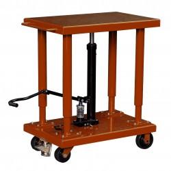 """<p>Capacité : 1800kg /</p> <p>Plateau 610*915 mm /</p> <p>Hauteur maxi d'élévation 1500 mm</p> <p><a class=""""btn btn-default"""" title=""""Commandez ce produit en ligne"""" href=""""https://direct-manutention.com/tables-elevatrices/27-152-table-de-mise-a-niveau-hydraulique.html"""" target=""""_blank"""">Commandez ce produit en ligne</a></p> <hr />"""