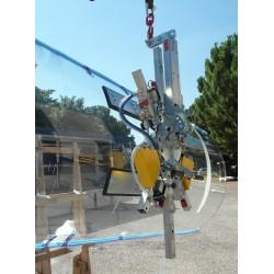 Palonnier à ventouses pour verre courbé VB4 C - 400 Kg