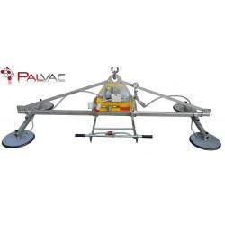 <p>Capacité 1000 Kg /</p> <p>préhenseur à ventouses spécialement conçu pour la manutention de tôle 1000*2000 mm et 1500*3000 mm<br />Epaisseur mini 5 mm pour une 1500*3000 mm</p> <p>Alimentation pneumatique (Modèle F4 A 1000 ) ou électrique (Modèle F4 EB 1000 )</p>