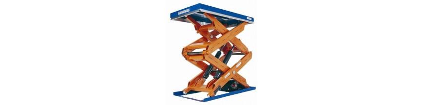 Table élévatrice fixe double et triple ciseaux verticaux