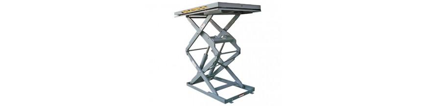 Table élévatrice inox double ciseaux verticaux