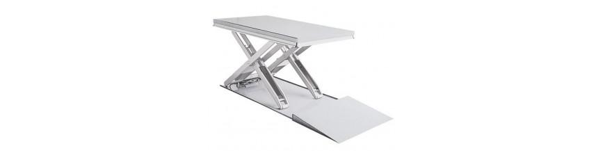 Table élévatrice inox extra plate