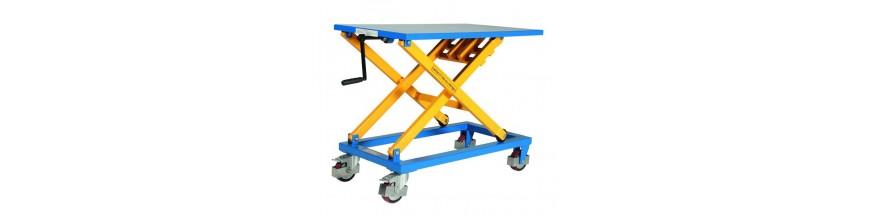 Table élévatrice mobile manuelle à manivelle