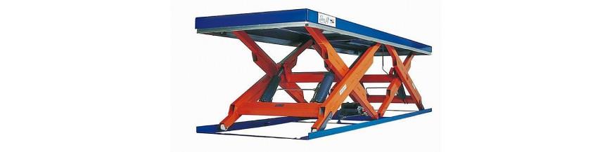 Table élévatrice double ciseaux horizontaux