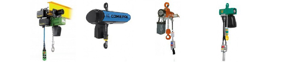 Vente de palan de levage industriel électrique et pneumatique