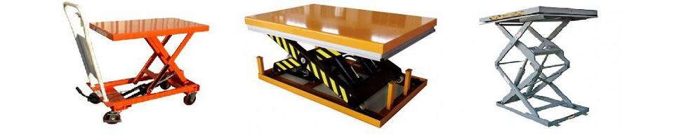Tables élévatrices industrielles électriques ou manuelles