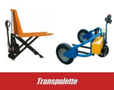 vente de transpalettes, modèles tout terrain